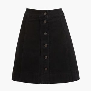 NWT JCrew Button-front denim mini skirt